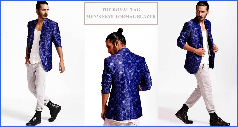 "Shine In Class & Style with Redesyn's Bestselling ""The Royal Tag"" Men's Semi-Formal Blazer! Price : INR 2799  #RedesynForCanopy3 #ApparelForCanopy3 #Below1000ForCanopy3 #RoposoCanopy3 #nicecollection #mensblazer #shirt #blueblazer #autumnwinter #semiformalblazer #printedblazer #coat #jacket #formal #printedshirt #designer #designedbyartists #art #fashion #styling #style #shoot #menswear #mens #streetstyle #goodmaterial #white #semiformal #discount"