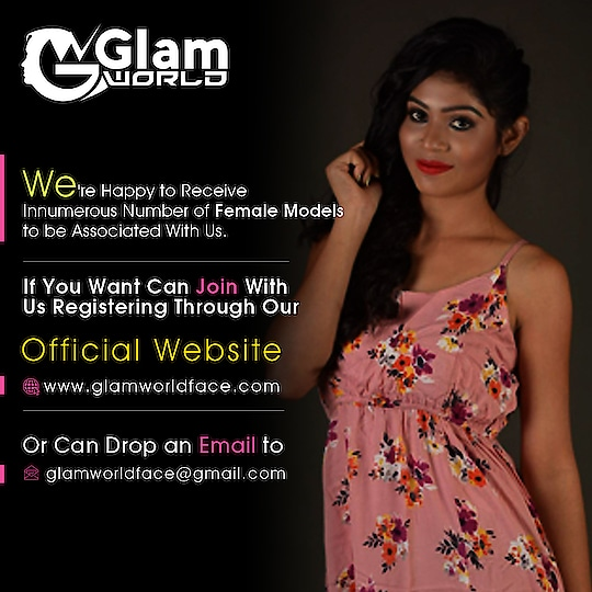 We're happy to receive innumerous number of Female model to be associated with us. If you want can join with us registering through our official website http://www.glamworldface.com/ or can drop an email to glamworldface@gmail.com. We will contact soon. #Moddeling #FemaleModel #ModelPhotoshoot #ModelPortfolio #Modelling