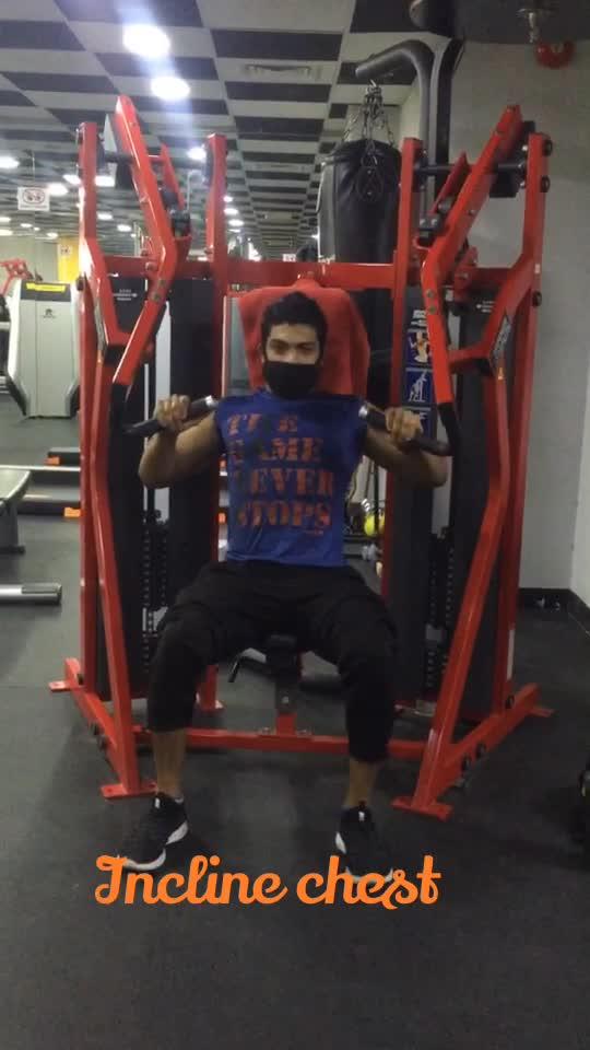 Chest workout day #chestpress #inclinepress #inclinepress #gabru_channel #gabruchannel #gym #fitness #fitnessmotivation #health