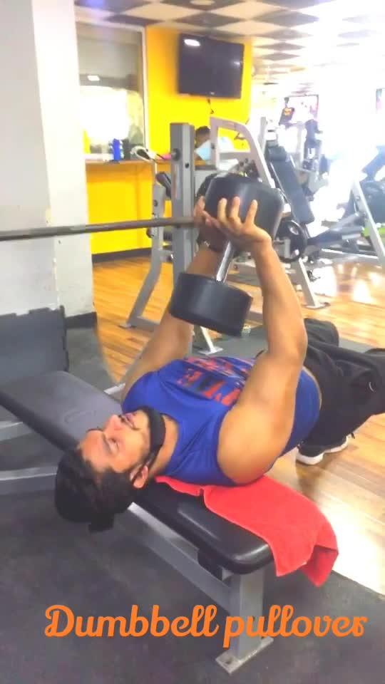 Chest workout #dumbbells #pullover #gabru_channel #gabruchannel #fitnessmodel #fitness #roposo #risingstars