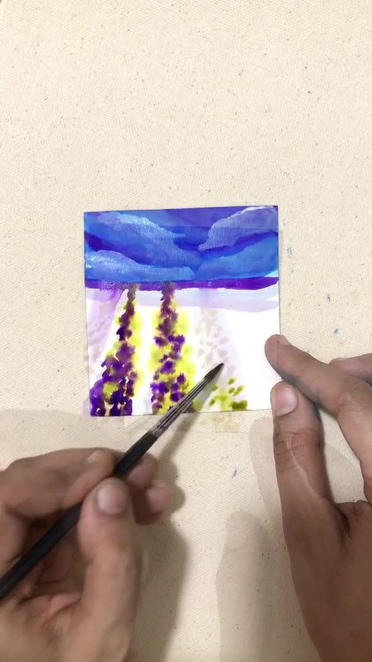 Flower 💐 field  #diy #paintings #creativity #art #painting #creativespacechannel #risingstar #roposostar #roposo #risingstaronroposo #craftyfingers