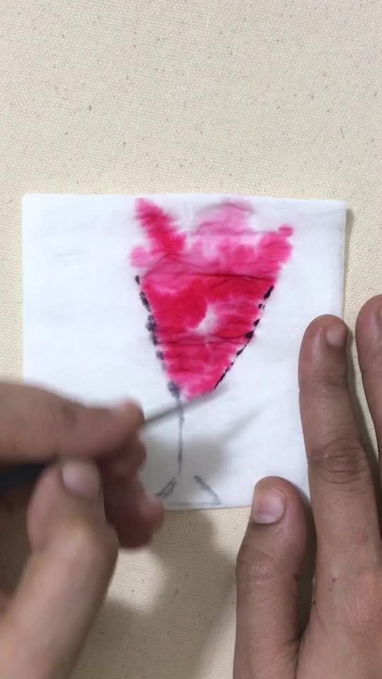 DIY TISSUE ART  #tissueart #summervibes #tissuepapaer #diy #painting #creativespace #creativity #creativespacechannel #risingstar