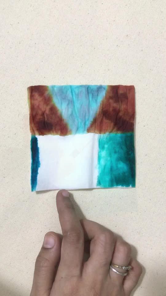 Easy Painting on Tissue Paper  #diy #craft #tissueart #summervibes #risingstar #roposostar #roposo