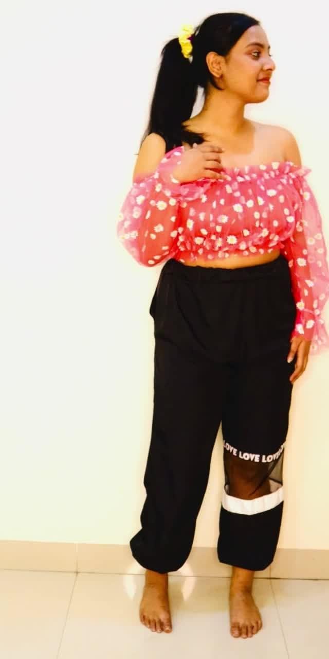 #fashion floral top❤️🧡