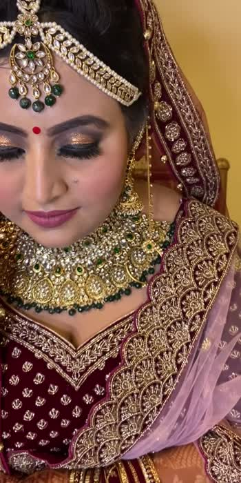 #Bride #bridesofindia #brides_of_india #bridemakeup #brideopedia #makeup #hair-style