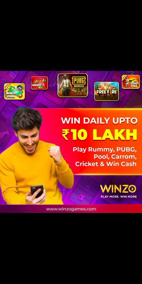 https://winzo.sng.link/Aqcna/h3i0?_dl=&_p=611f7d2efb&pcn=611f7d2efb  GUYS THIS IS NICE OPPORTUNITY TO EARN BY PLAYING GAMES. DOWNLOAD THIS APP THROUGH MY LINK U WILL GET UPTO ₹50 JOINING BONUS WHICH U CAN INVEST IN PLAYING GAMES AND EARN LOT OF MONEY. FREE FIRE TOURNAMENTS AVAILABLE IN THIS APP  #glanceroposso #earnmoneyonline  #earningfromroposo #viralvideo