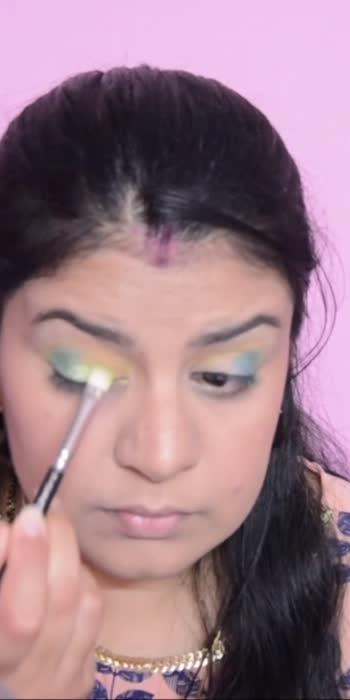 SFR Lavender Eyeshadow Palette Look 3 #sayitwitheyes #greeneyemakeup #eyemakeuplook #onepalettethreelooks