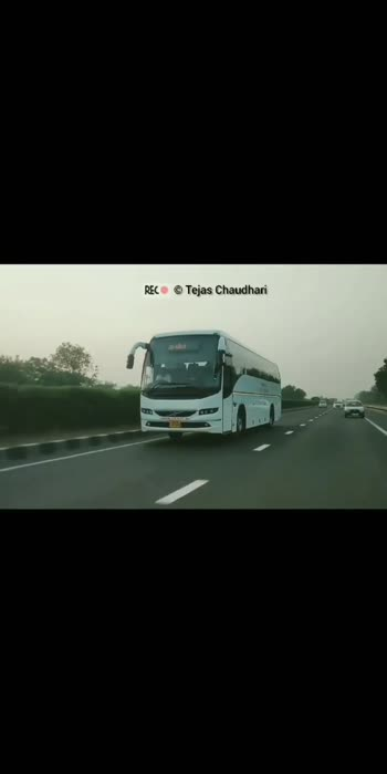 Gujarat State Road Transportation Corporation Volvo B8R Bus Leased By Chartered Bus On Ahmedabad - Baroda Express Way  #gsrtc #gsrtc_fan #gsrtclovers #gsrtcservice #gsrtcbrand #gsrtcvolvo #volvobusesinindia #bus #busfans #busworld #busclicks #multi_axle_coaches #indias_luxury_buses #indianbuses