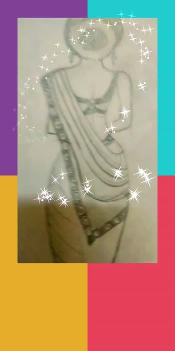#part1 #dresslovers #dress #sarrelove #sketchinglove #sketchbook #drawing #diycrafts
