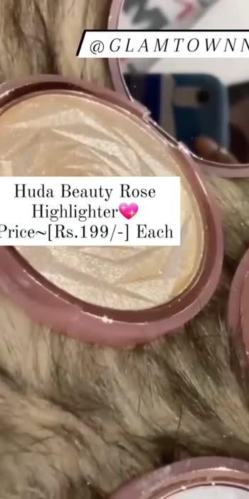 Hudabeauty Highlighter    #roposo #roposo-beats #roposostars #roposolove #everydaymakeup #everydayfashion #makeupaddict