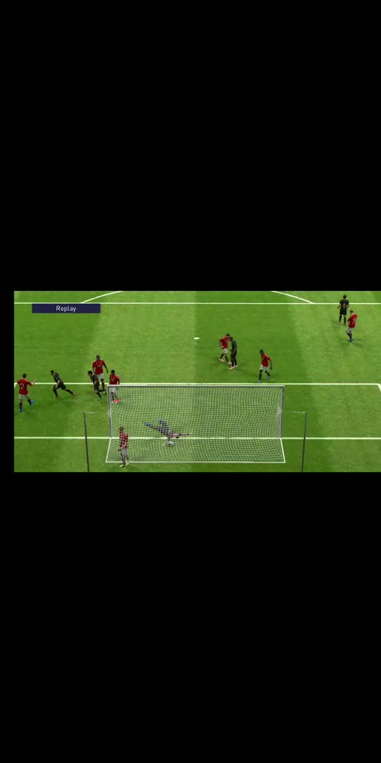 Who says messi can't goal from head😈😈 #pes2021