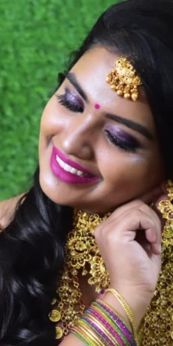 Contact for booking 7022248331 #makeupartist #southindianbride #bridesofpavithra #naturalmakeuplook