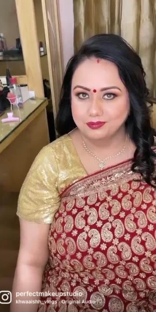 #makeup #makeuplook #indianapp #roposo #makeuplover #beautyblogger #makeupblogger #makeupbloggerindia #perfectmakeupstudiobyharpreetkaur #love #saree #indiandress