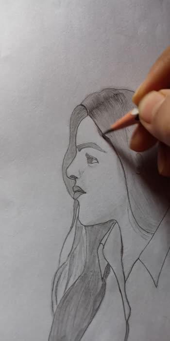 beautiful girl pancil drawing #draw #art