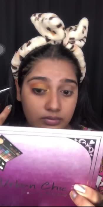Sunset eye makeup tutorial ☀️ PART 4💛  #Getreadywithme #makeup #makeupartist #makeuptutorial #sunsetmakeup #sunset #sunrise