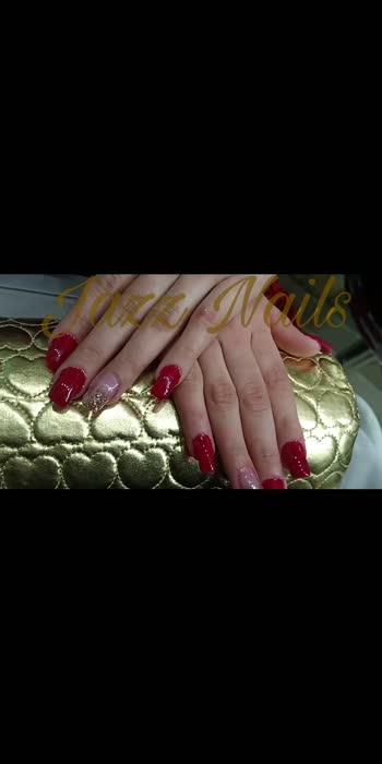 Hi People,   created these acrylic nails for an Indian bridesmaid. shower your love with likes and comments.  #nails #beauty #beautifulnails #reelkarofeelkaro  #beautyvideos #beautyvloggers #nailart #rednailpolish #glitternailart