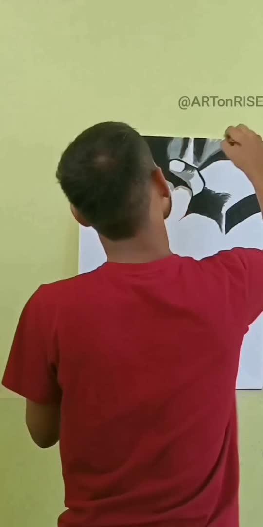 Reverse painting of Akshay Kumar #painting #art #viral #viralvideo #trend #trendingvideo #trending