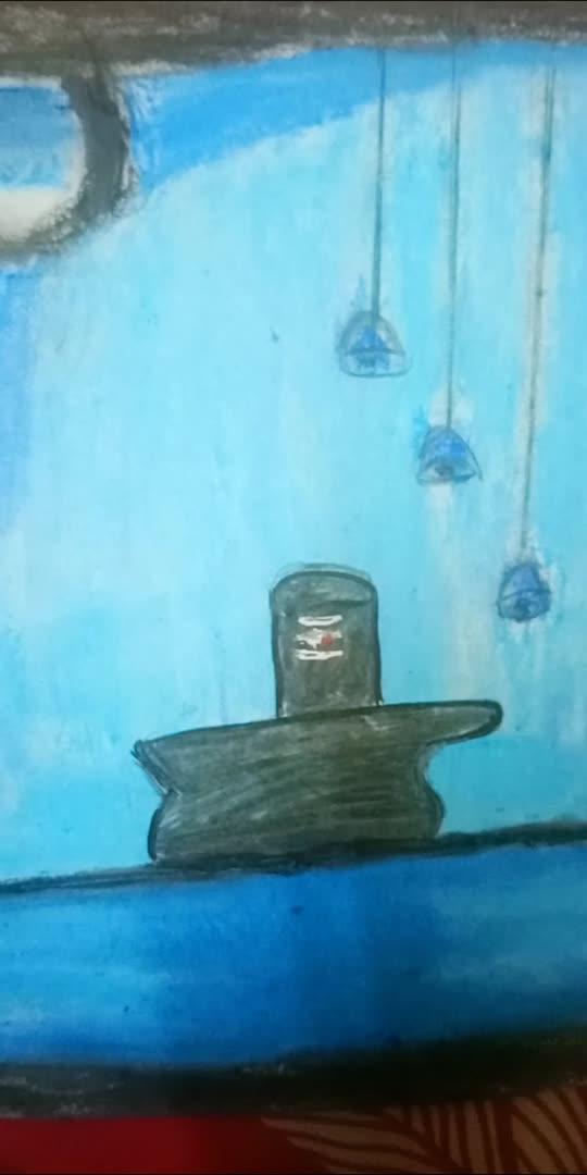 #oilpasteldrawing #mahadev   Har Har mahadev painting made by me