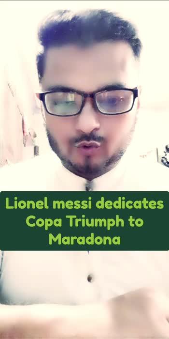 #lionelmessi #dedicates #copa #triumph #maradona #sports #sportstv #sportstvchannel