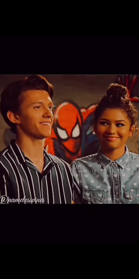 They are so cute 🥺❤️❤️ #tomholland #zendaya #cute #couple #spiderman #spidermanfarfromhome #peterparker