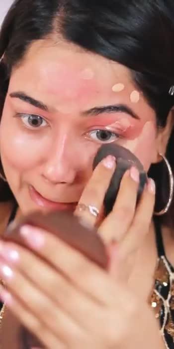 #viralmakeup #challage #technique #for #gold #blackdressbeauty