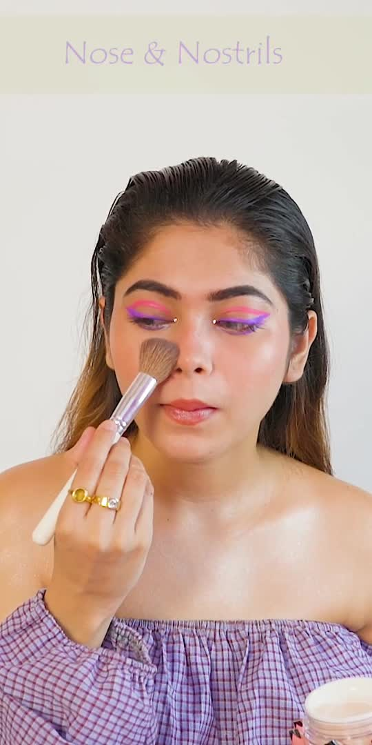 where to apply powder #makeuptips