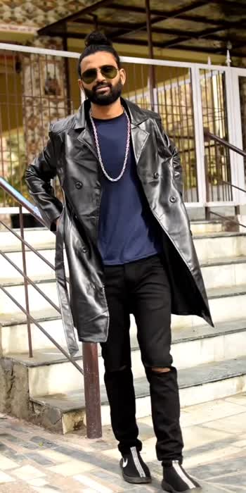 long leather styling