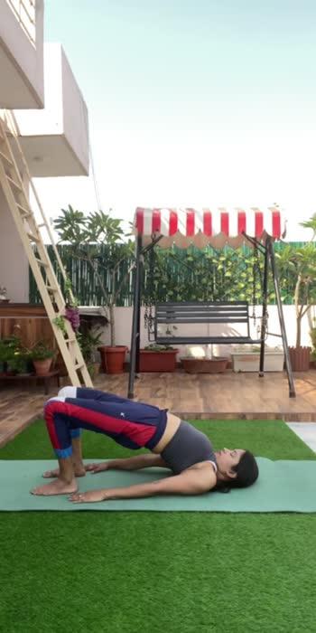 How to do bridge pose  #yoga #yogachallenge #yogalove #yogainspirations