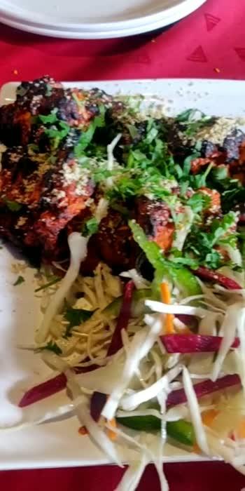 Starter in Frame #starter #chicken #yummyfood #kalwa #salad #greenchutney