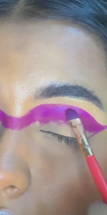 💜💜💜💜    #glancexroposo #glanceroposo #makeuproposo #dojacat #makeuptutorial #linerlover #colourfulmakeup