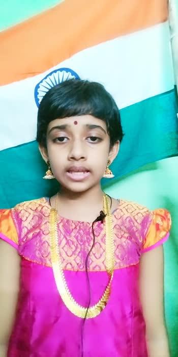 #proudindian wish you Happy independence day...Jai Hindh...My daughter's singing#beatschannel #singingstar #patriotic-song #bharathiyarkavidhaigal #bharathiyar
