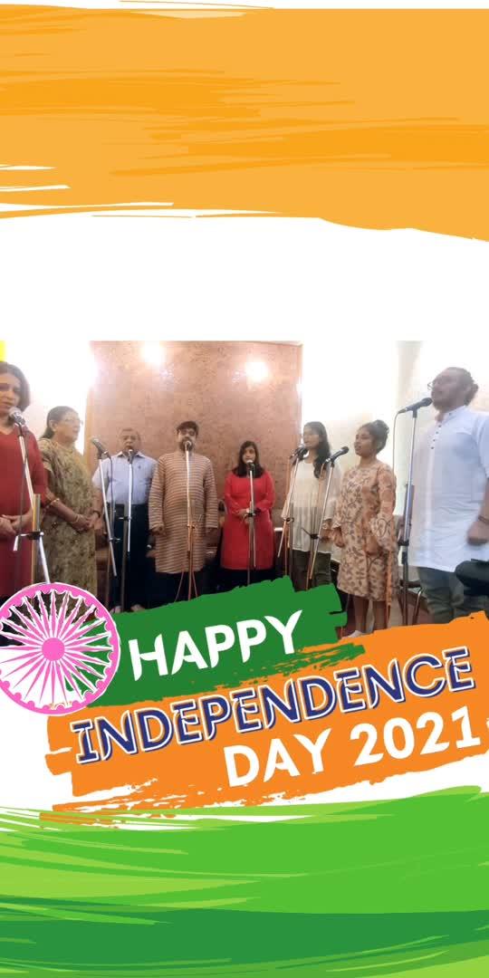 National Anthem!! Happy Independence Day 2021!   The full video is on Youtube: AB Madhav Music  Link in bio  #nationalanthem #groupperformance #india #independenceday2021 #sundaymood #nationalday #nationalfestival