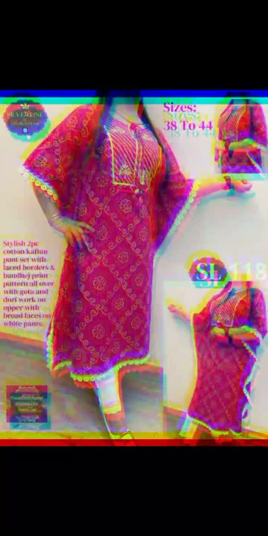Designer kaftan dress