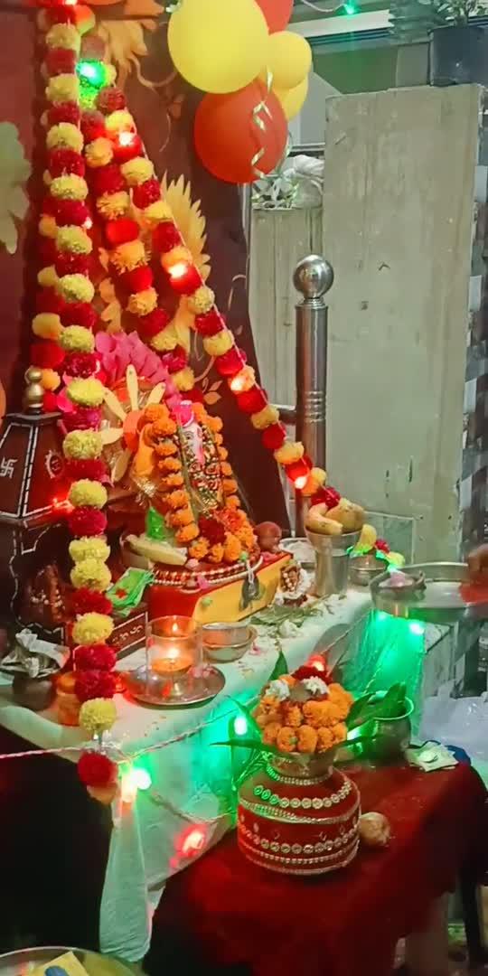 hmare Ghar me bappa aaye 😍😍 #bappamorya #ganpatibappamorya