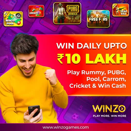 https://winzo.sng.link/Aqcna/h3i0?_dl=&_p=611f7d2efb&pcn=611f7d2efb   GUYS THIS IS A NICE OPPORTUNITY TO EARN MONEY BY PLAYING GAMES. JUST CLICK THIS LINK DOWNLOAD THE APP REGISTER WITH YOUR BCSIC DETAILS AND START EARNING. BY CLICK MY LINK YOU WILL GET ₹10 BONUS WHICH U CAN INVEST IN GAMING AND START EARNING.  #glanceroposo #earnmoneyonline #earningfromroposo #viralvideo