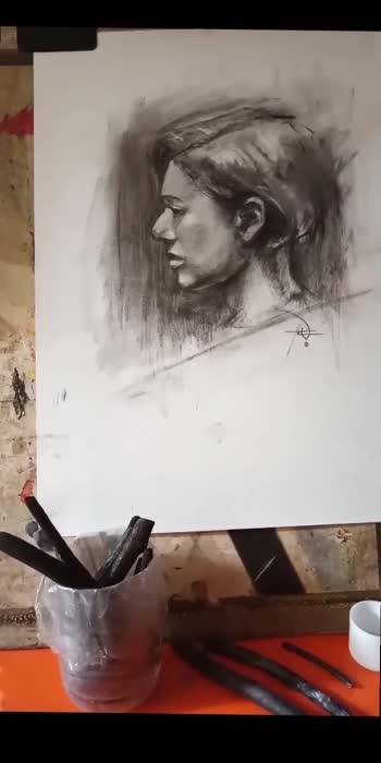 Satisfying part #supportartists #artistsoninstagram #artistofroposo #charcoaldrawing #drawing