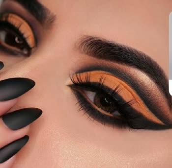 orange eyemakeup... #eyemakeup #eyemakeuplook