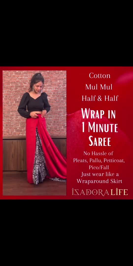 Stitched one min sari isadoralife.com #roposostar #roposo-beats #roposoindia